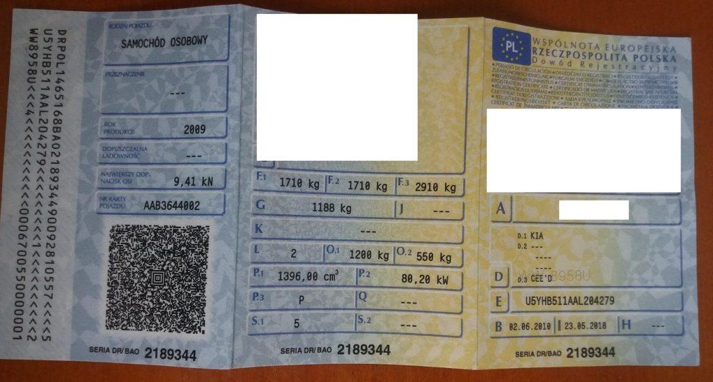 dowód rejestracyjny samochód osobowy rzeczoznawca
